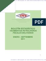 Boletin Estadistico YPFB Enero/Septiembre 2011