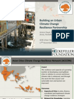 Building an Urban Climate Change Resilience Partnership