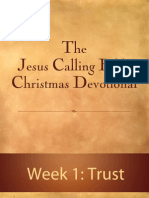 Jesus Calling Bible Christmas Devotional - Week 1