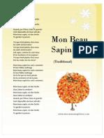 Mon Beau Sapin Lyrics