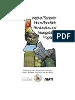 Idaho; Native Plants for IdahoRoadside Restorationand Revegetation Programs