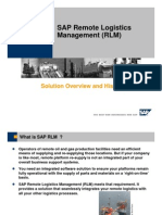SAP RLM Overview
