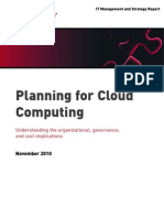 Planning for Cloud Computing