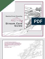 California; Santa Cruz County Stream Care Guide