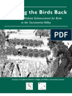 California; Bringing the Birds Back A Guide to Habitat Enhancement for Birds in the Sacramento Valley - PRBO Conservation Science