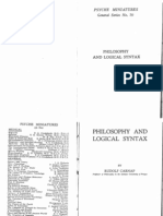 Carnap - Philosophy and Logical Syntax