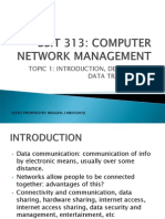 BBIT 313 Unit 1 Introduction Definitions and Data Transmission