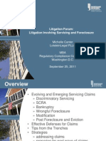 MBA Litigation Forum September 2011 -Servicing and Foreclosure