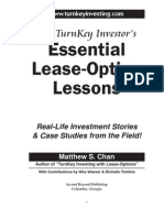 TurnKey Investor's Essential Lease-Option Lessons (Table of Contents, Intro)