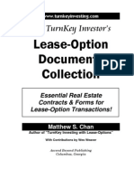 TurnKey Investor's Lease-Option Documents Collection (Table of Contents, Intro)