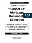 TurnKey Investor's Subject-To Mortgage Documents Collection (Table of Contents, Intro)