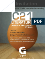 C21 Literature - First Fictions Invite