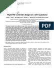 Flight PID Controller Design for a UAV Quadrotor