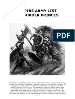 Empire Army Book by Border Princes