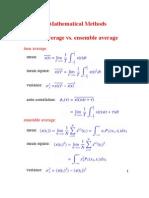 Ensemble Average and Time Average