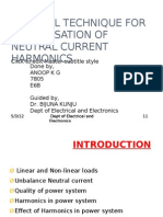 Control Technique for Compensation of Neutral Current Harmonics