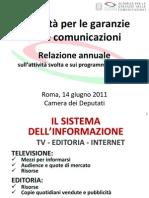 AGCOM - Relazione annuale 2011