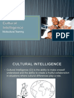 Cultural Intelligence - Multicultural Teaming Final