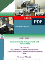 Itro to Mgt and Leadership 1