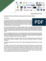 Open Letter COP17 ENV Ministers Carbon Markets (3)