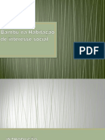 Bambu na Habitação de interesse social