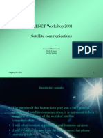 Budapest Ceenet 2001 - Satellite Communications