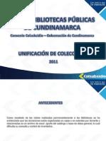 Proceso de Unificación y valoración colecciones
