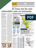 Los conos de Lima son más vulnerables ante un terremoto