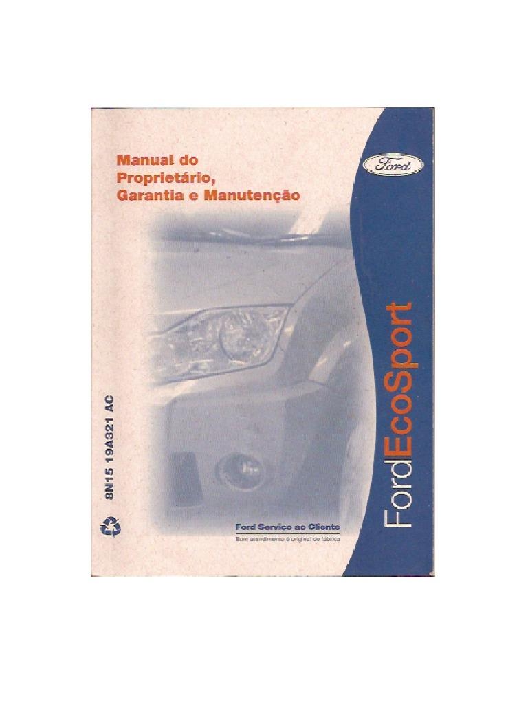 manual do proprietario ecosport 2008 rh scribd com manual proprietario ecosport 2013 manual propietario ecosport 2007