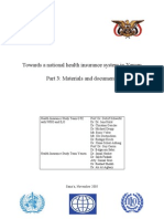 WHO 2005 Towards a National Health Insurance System in Yemen Part 3- Materials and Documents
