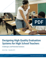 Designing High Quality Evaluation Systems for High School Teachers