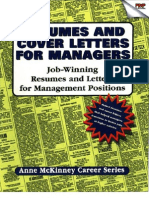 Resumes and Cover Letters for Managers