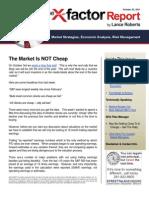X-factor 102211 - Market is Not Cheap