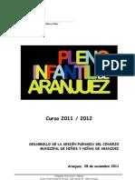 Desarrollo del Pleno Infantil 2011/2012