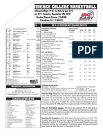 Friars vs. Holy Cross Game Notes