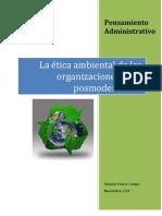 La Etica Ambiental en El Posmodernismo