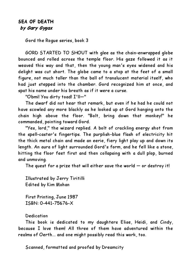 Gary Gygax - Gord the Rogue 3 - Sea of Death