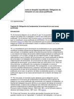 1995, Protección contra el despido injustificado Obligación de fundamentar la terminación en una causa justificada