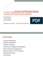 Continuous Integration in Agile Development
