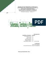 Soberania Territorio y Petroleo