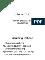 12-Session Vendor Selection and Development