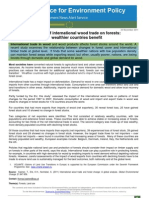 Effects of international wood trade on forests