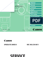 Canon 580EX II Repair Manual