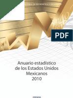 Anuario Estadistico Mexico 2010