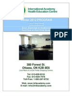 IAHEC Winter 2012 Courses