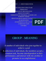 UNIT - III - Group Behaviour