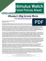 Obama's Big Green Mess