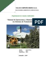 6. Manual de Operacion y Mantenimiento Del Sistema de Tratamiento