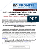 Failed Promise - Obama's Jefferson Jackson Dinner Flashback