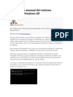 Reparación manual del sistema operativo Windows XP